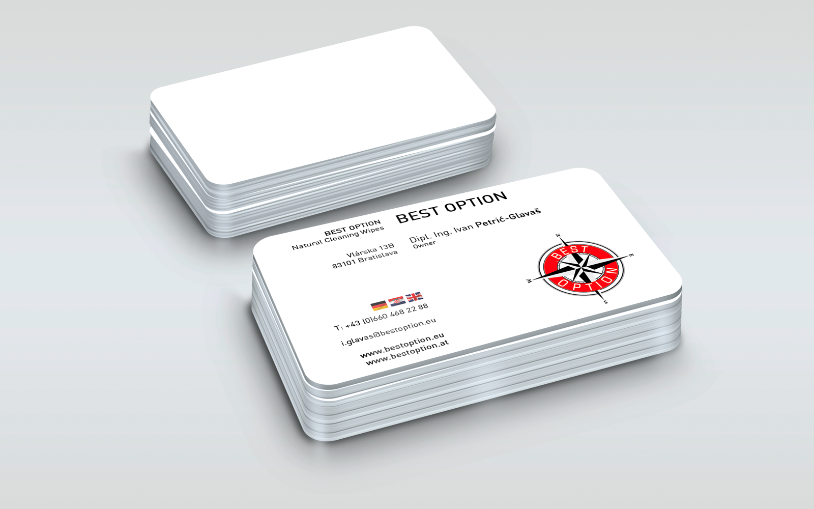 Best Option Wipes Business Card