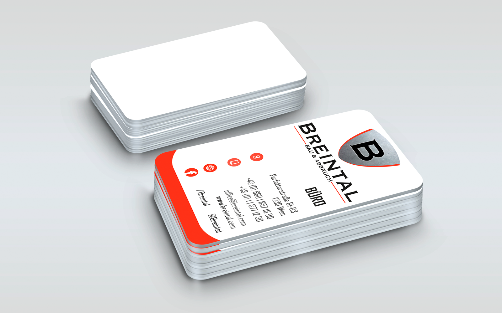 Breintal Bau & Abbruch Wien Business Card